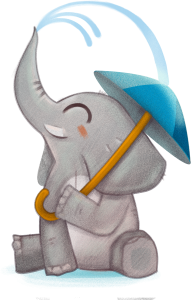 Elefante Mascota Chelino Hasta 12 horas seco