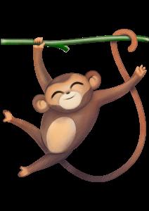 Mono mascota Chelino Diversión